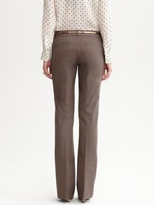 Banana Republic Sloan Fit Textured Brown Flare - Lyst