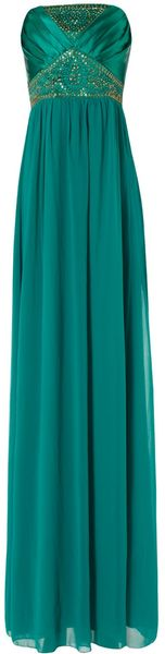 Jane Norman Satin Bead Pleat Maxi - Lyst