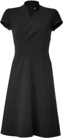 Ralph Lauren Collection Black Double Face Wool Crepe Harper Dress - Lyst