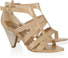 Belle By Sigerson Morrison Cole Leather and Wood Sandals - Lyst