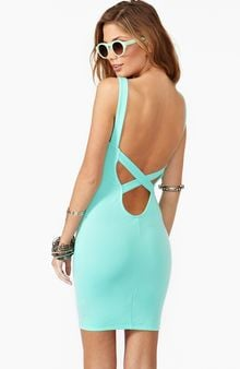 Nasty Gal Crossed Out Dress Mint - Lyst