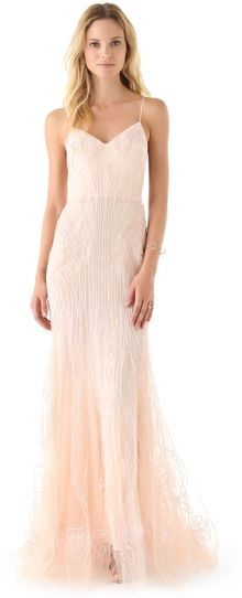 Zac Posen Sweetheart Mermaid Dress - Lyst