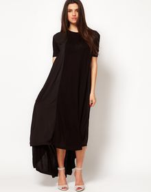 ASOS Collection Asos Maxi Dress in Jersey and Woven Mix - Lyst