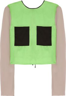 Roksanda Ilincic Colorblock Silk-twill Top - Lyst
