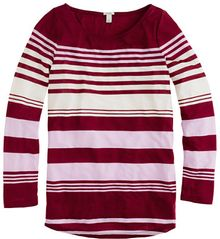 J.Crew Multistripe Long-sleeve Boatneck Tee - Lyst