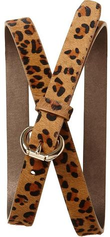 Banana Republic Leopard Haircalf Belt - Lyst