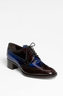 Prada Brogue Oxford - Lyst