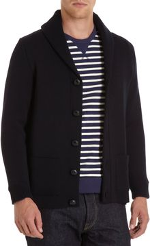 Saint James Shawl Collar Cardigan - Lyst