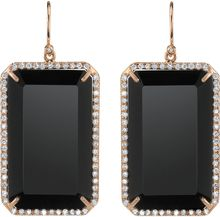 Irene Neuwirth Emerald Cut Black Onyx Diamond Earrings - Lyst