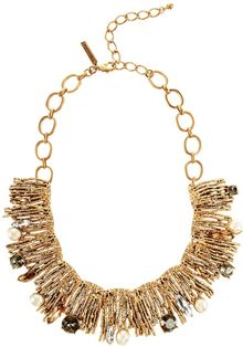 Oscar de la Renta Crystal Branch Necklace - Lyst