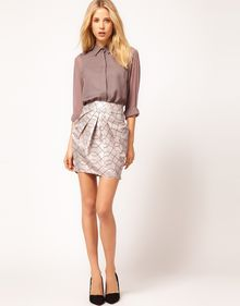 ASOS Collection Premium Geo Mini Skirt - Lyst