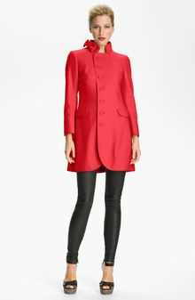 RED Valentino Asymmetrical Wool Blend Coat - Lyst