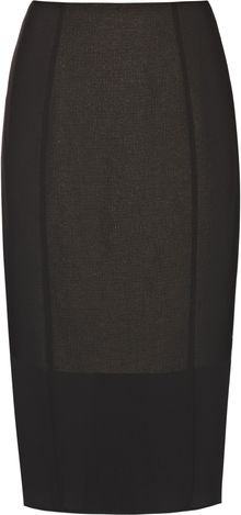 Reiss Pleat Detail Skirt - Lyst