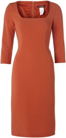 Max Mara Studio Lux Square Neck Ponte Dress - Lyst