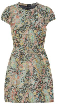 Carven Wool-Blend Brocade Dress - Lyst