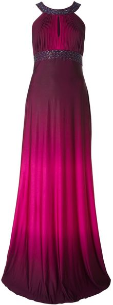 Js Collections Ombre Jersey Dress with Beaded Neck - Lyst