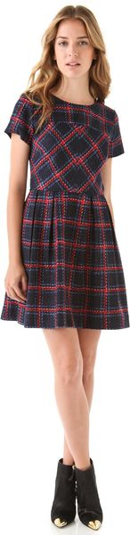 Shoshanna Allison Plaid Dress - Lyst