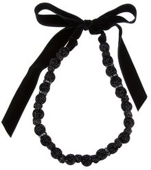 Lanvin Beaded Bowtie Necklace - Lyst