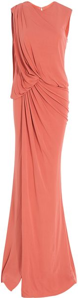 Elie Saab Sleeveless Long Jersey Gown - Lyst