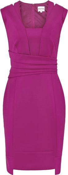 Reiss Wrap Bodycon Dress - Lyst