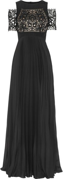 Temperley London Catherine Lace and Pleated Chiffon Gown - Lyst