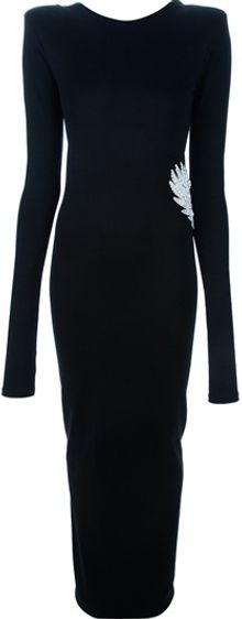 Balmain Low Back Fitted Dress - Lyst