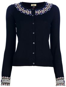 Issa Embelished Cardigan - Lyst