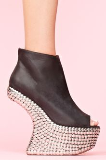 Nasty Gal Night Tick Platform - Lyst