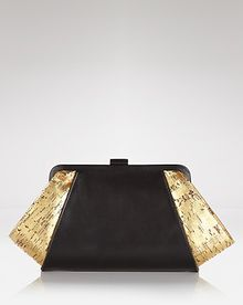 Z Spoke by Zac Posen Clutch Posen Leather Cork - Lyst
