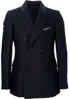 Saint Laurent Double Breasted Blazer - Lyst