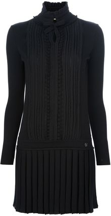 Roberto Cavalli Pleated Dress - Lyst