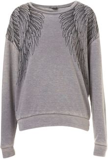 Topshop Wings Burnout Sweat - Lyst