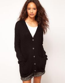 ASOS Collection Asos Chunky Rib Cardigan - Lyst