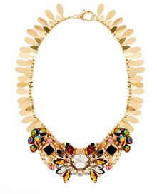 Asos Winged Stone Collar Necklace - Lyst