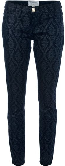 Current/Elliott Brocade Print Jeans - Lyst