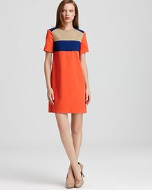 10 Crosby by Derek Lam  Short Sleeve Crewneck Dress - Lyst