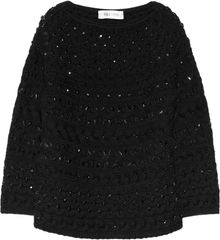 Valentino Beaded Cableknit Wool Sweater - Lyst
