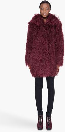 Versus   Fur Hooded Overcoat - Lyst