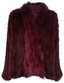 Elizabeth And James Rabbit Fur Coat - Lyst