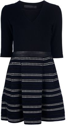 Proenza Schouler Fitted V-Neck Dress - Lyst