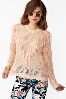 Nasty Gal Fringed Knit - Lyst