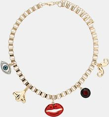 Topshop Face Cluster Necklace - Lyst