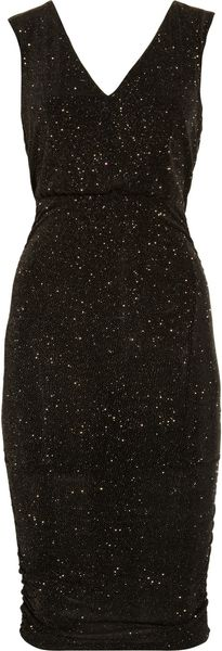 Alice + Olivia Glittered Stretch Jersey Dress - Lyst