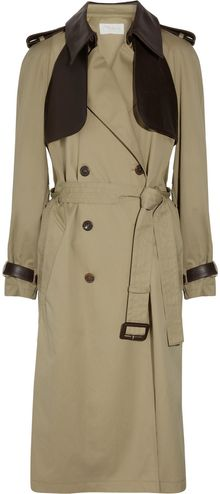 Chloé Gabardine Cotton Trench Coat - Lyst