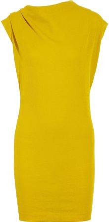 Lanvin Fine Knit Cotton Blend Dress - Lyst
