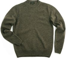A.P.C. Apc Vintage Crew Neck Pullover Brown Heather - Lyst
