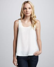 French Connection Relaxed Silk Tank Ivory - Lyst