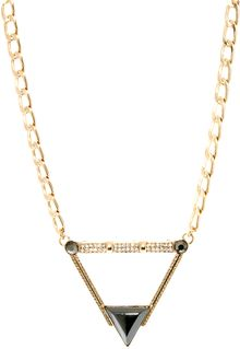 Asos Stone Triangle Necklace - Lyst