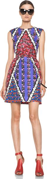 Peter Pilotto Tri Dress in Red Multi - Lyst