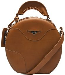 Carven Round Leather Bag - Lyst
